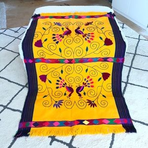 Oaxaca 70s Embroidered Tablecloth WallHanging